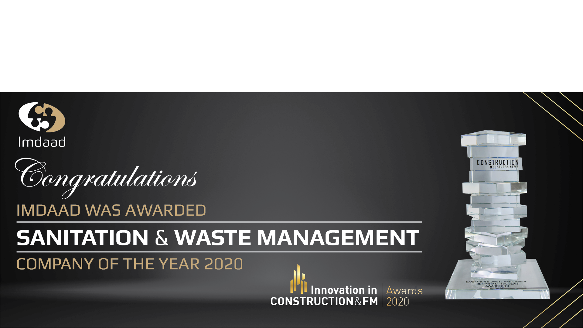 Imdaad Crowned Sanitation and Waste Management Company of the Year