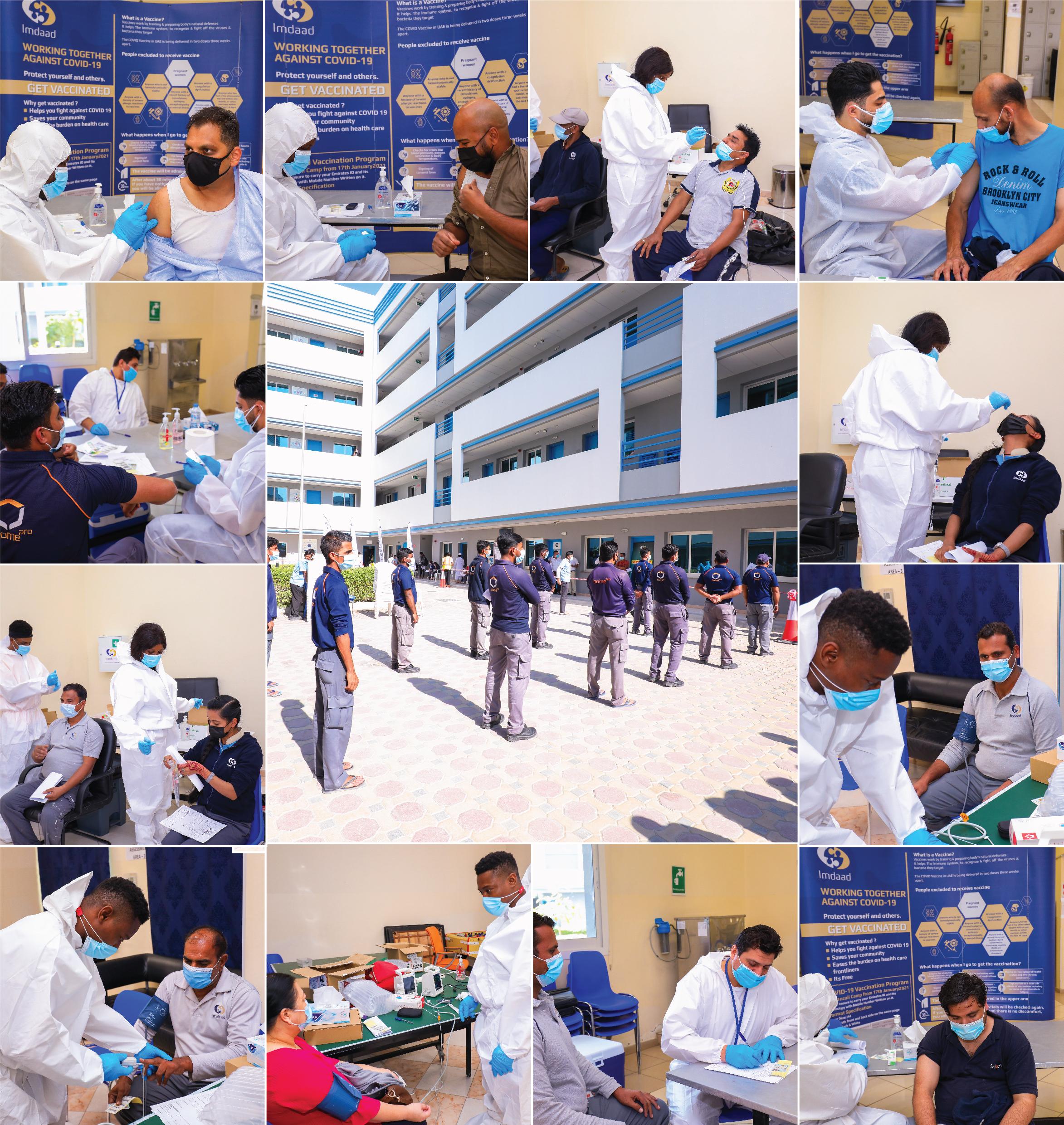 Imdaad Immunises Workforce Against COVID-19
